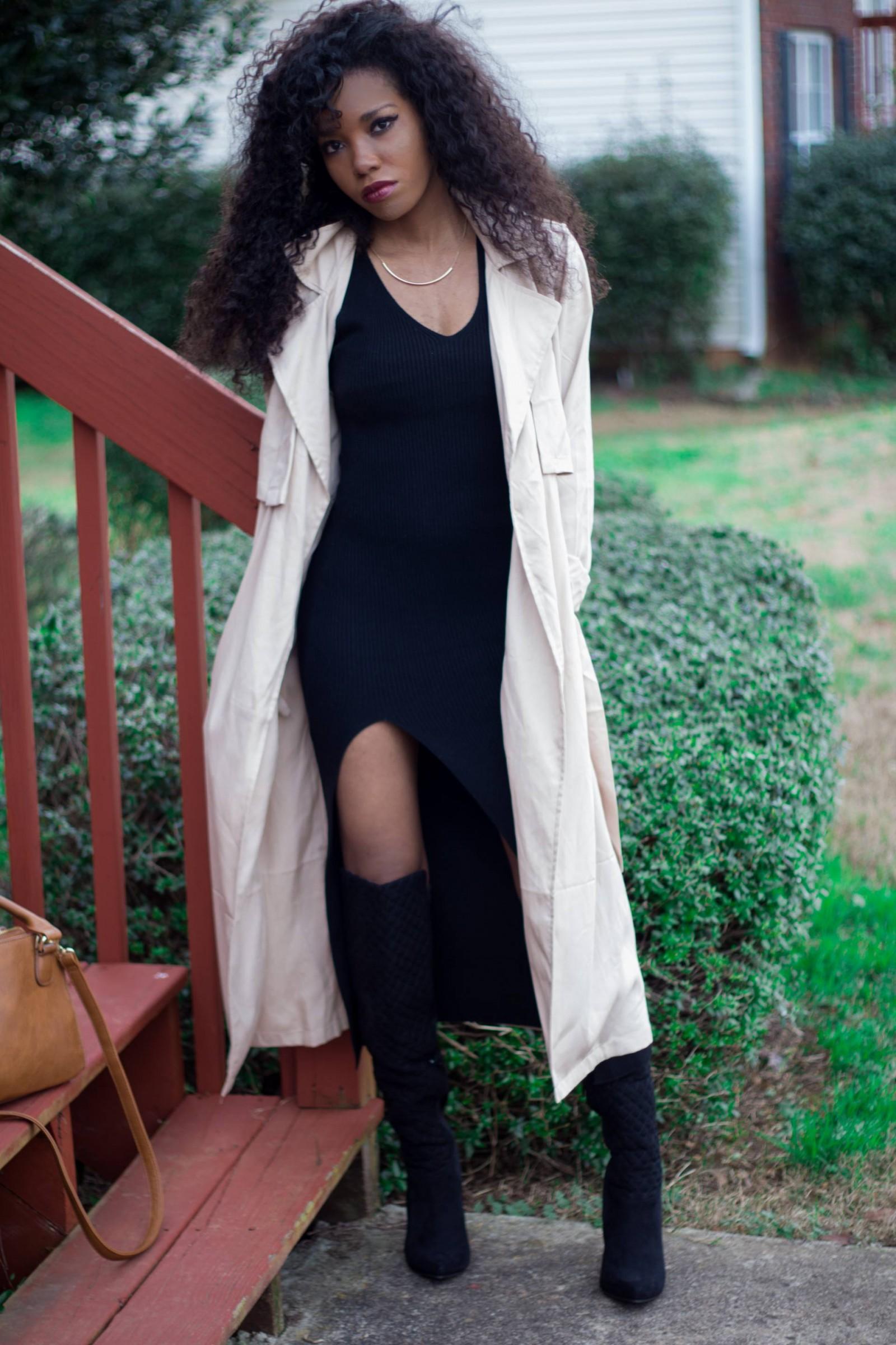 Black Maxi & Trench Coat